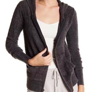 NWT $128 Barefoot Dreams ChicLite Hoodie in Carbon